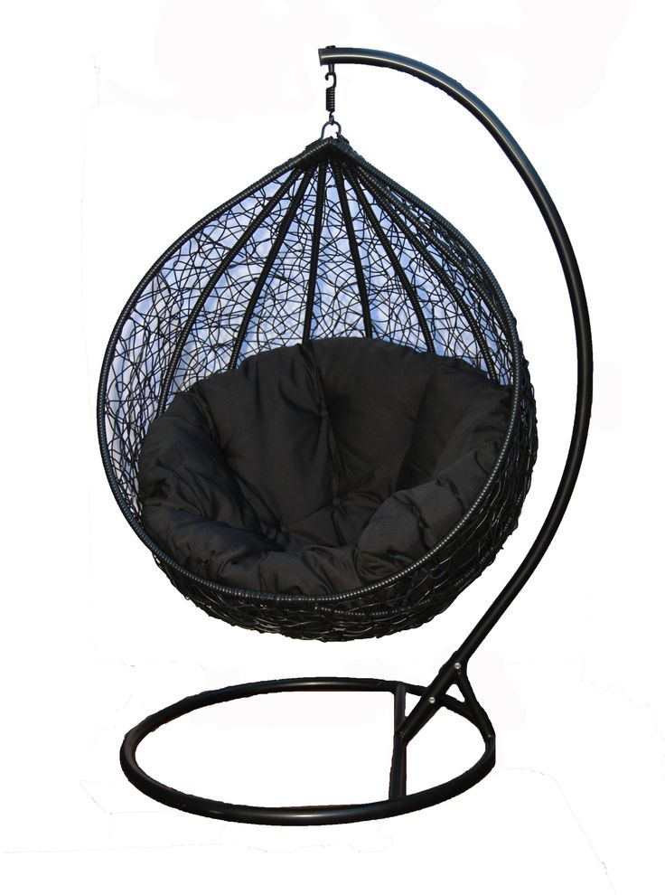 Absolute contemporary cool- an all Black Hanging Egg Chair from Skycarte... Bold sophistication for a statement piece both inside and outside! http://www.skycarte.com.au/outdoor/hanging-egg-chairs-australia.html