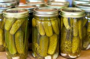 MY MOM CANNED DILL, SOUTHERN SWEET, AND BREAD & BUTTER PICKLES.