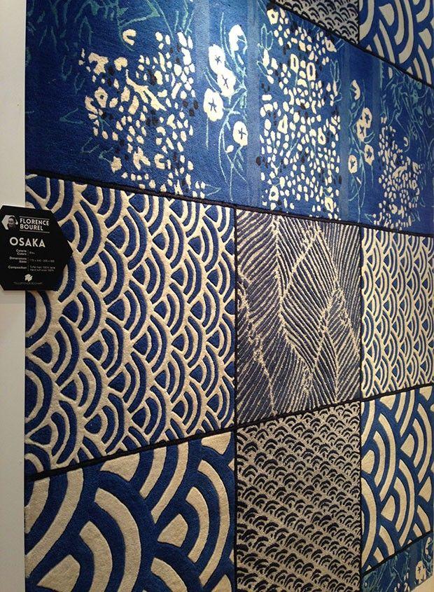 Maison et Objet 2014 - Tapete Osaka, design Florence Bourel para Toulemonde Bochart