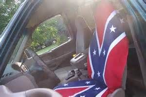 confederate flag towel made into a seat cover in My 97' F-150 by ...