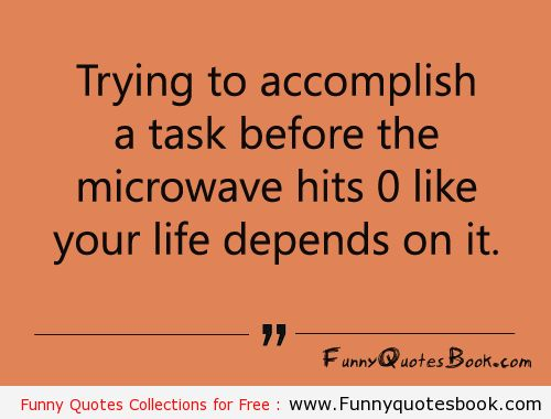 Funny Quotes about Microwave timing
