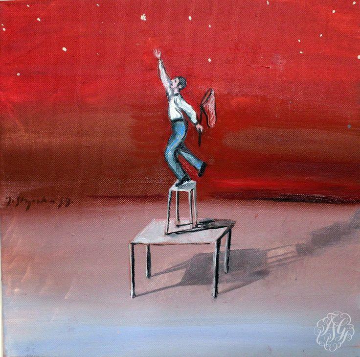 "Joanna Styrylska  ""Only you"" ""Ta jedyna"" 30/30 cm. oil on canvas / olej na płotnie"