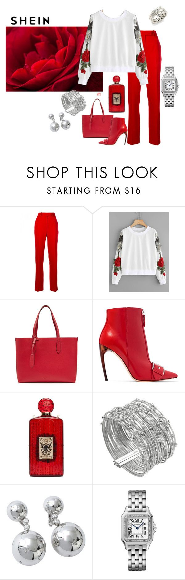 """""""Roses are Red"""" by meesh57 on Polyvore featuring Calvin Klein 205W39NYC, Burberry, Alexander McQueen, Charlotte Olympia, Marco Bicego, de Grisogono and John Hardy"""