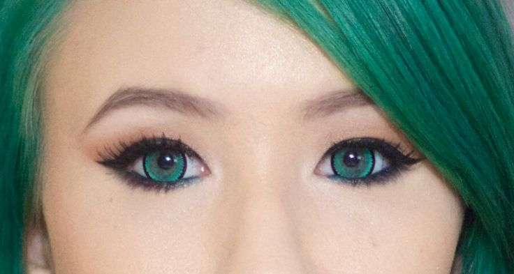 GEO Nova Green circle lenses and colored contacts - EyeCandy's