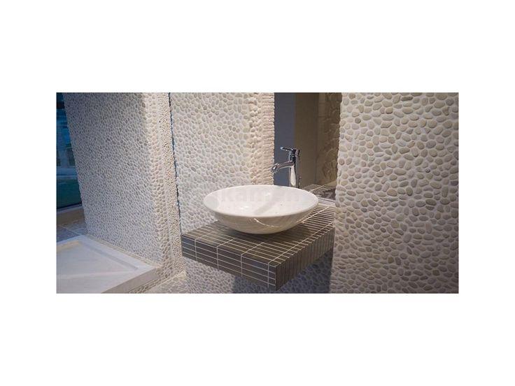 River White. Mozaika z přírodního kamene River White je vyrobená z mramoru…