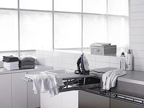 Inspirational images and photos of Laundry & Utility Rooms : Remodelista Foldable ironing board
