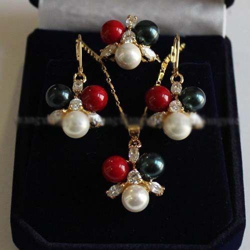 Бесплатная доставка @@@@@ 8 мм 3 цвет юг морская раковина перл jewerly серьги / кольца / ожерелья а . а .