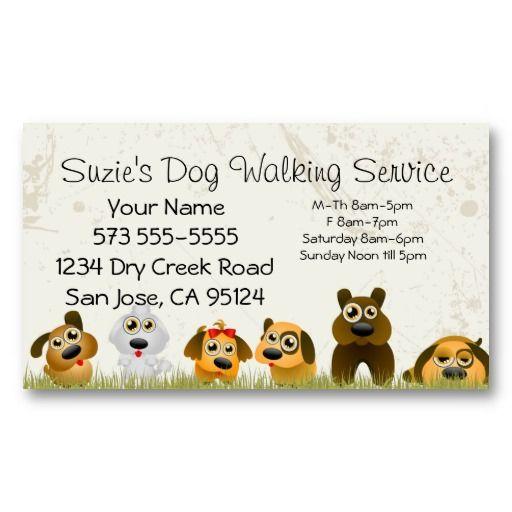 Customizable Do Walking Service Business Card
