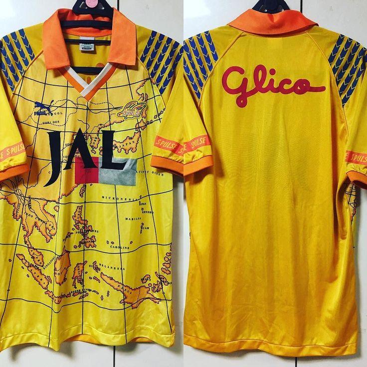 93-96 Shimizu S Pulse Home S/S (Legue Cup Ver.) 世界地道が入ってるやっぱり清水はプーマだ笑  #Jリーグ #jersey #football #shimizu #S-pulse #spulse #uniform #soccer #サッカー #jleague #サントス #shizuoka #puma by sanfreccejm