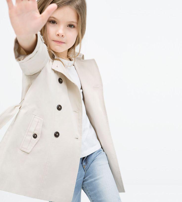 LONG TRENCHCOAT - Jackets - Girl (3 - 14 years) - KIDS ...