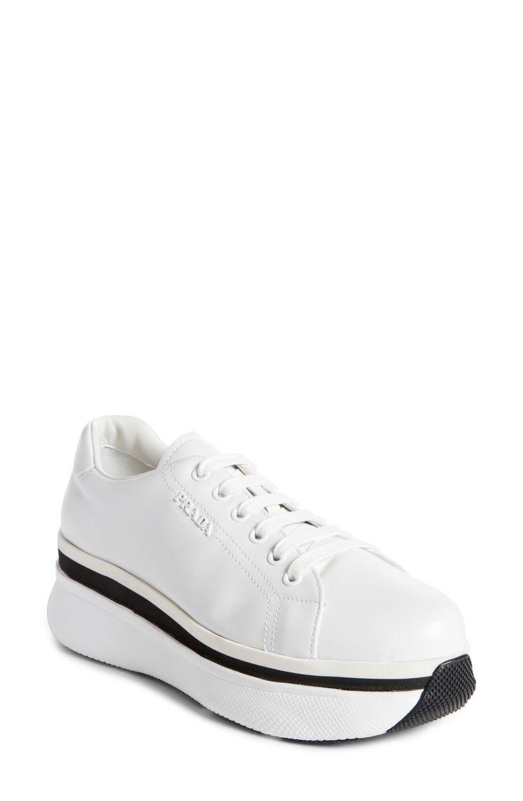 Buy PRADA Platform Lace-Up Sneaker online. New PRADA Shoes. [$640] SKU OGHT22255OMBU18011
