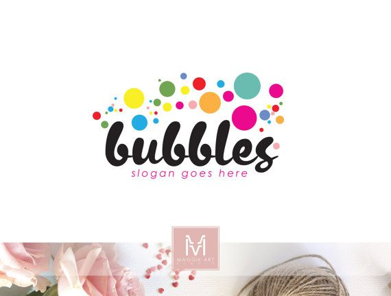 Bubbles Logo, Soap Logo, Sweets Logo, Children Logo, Party Logo, Cake Logo, Bakery Logo, Watermark