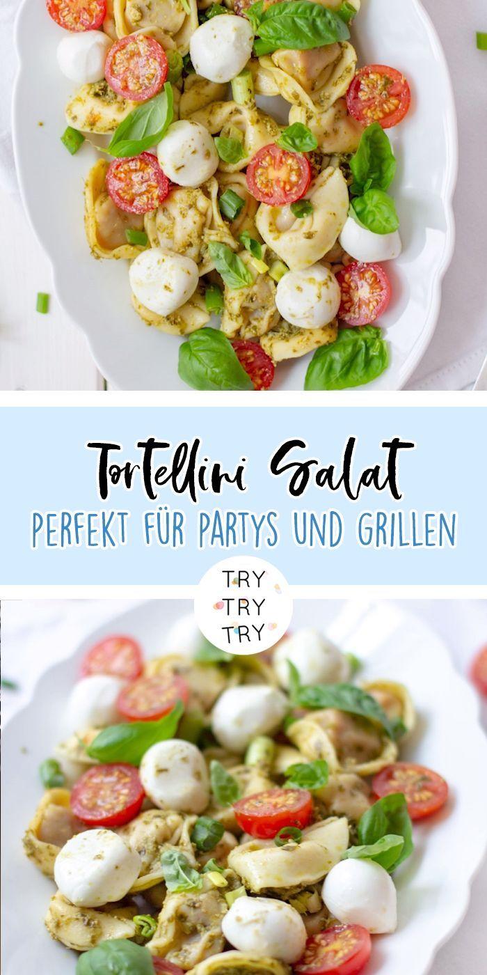 Italienischer Tortellini Salat Italienischer Salat Tortellini Tortellinisalat Healthy Snacks Recipes Quick Healthy Snacks Healthy Savory Snacks