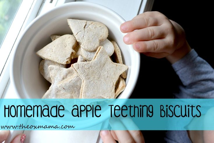 "Homemade Apple Teething Biscuits | Whole Wheat, No Sugar Toddler and Infant ""Cookies"" 