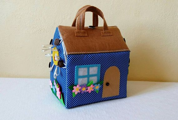 Doll house fabric Portable dollhouse Quiet book Toy for