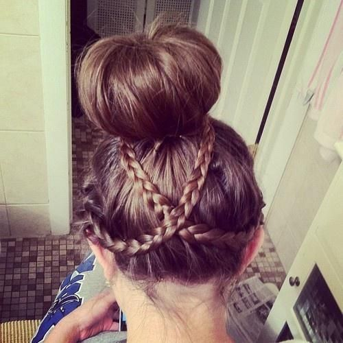 criss cross braid bun