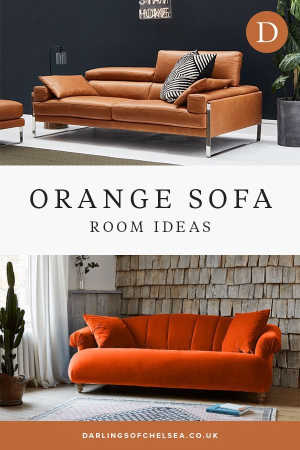 Orange Sofa Room Ideas Darlings Of Chelsea In 2020 Living Room Theaters Small Living Room Decor Living Room Colors