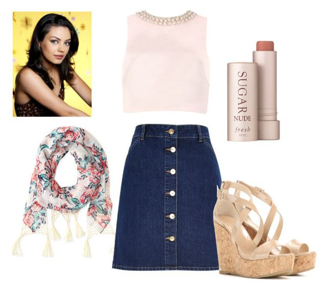 """Jackie Burkhart- That 70s Show Outfit"" by oliviagrace26 ❤ liked on Polyvore featuring moda, Aéropostale, River Island, Fresh, Ted Baker e Jimmy Choo"