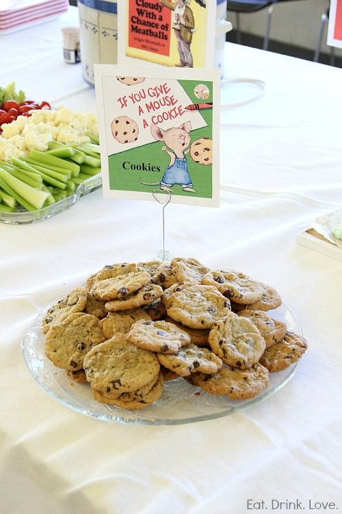 Storybook Baby Shower - what a cute idea! Have to remember this for the next shower at school.