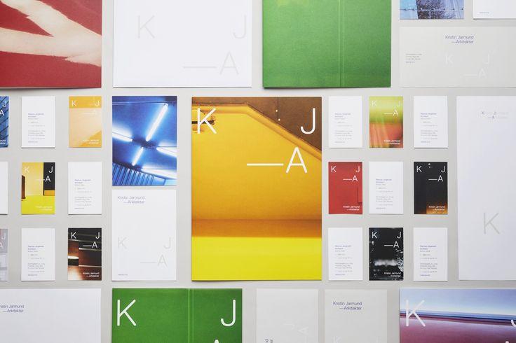 Logotipo, tarjetas de papelería y diseñados por Snøhetta para Kristin Jarmund arquitectos con sede en Oslo