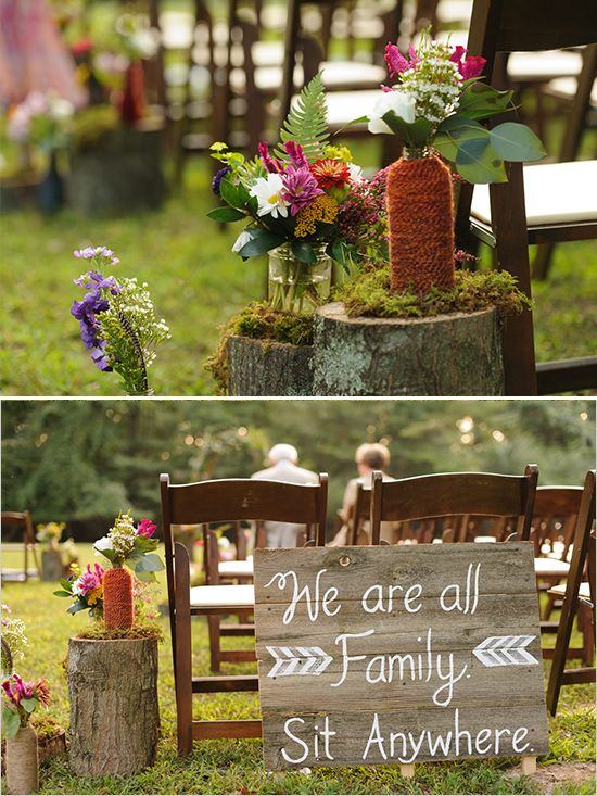 Rustic and natural wedding ceremony ideas @weddingchicks