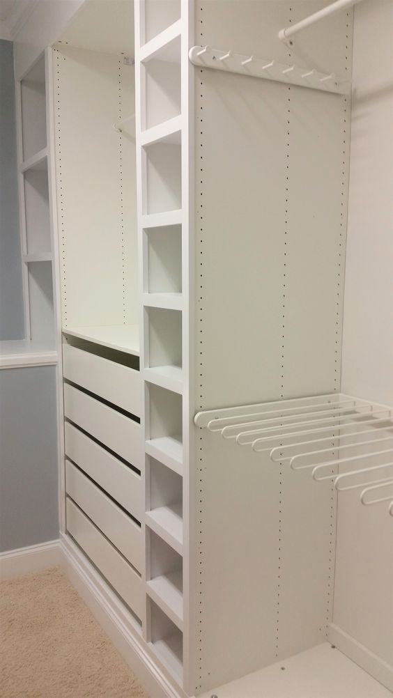 The ultimate Ikea PAX wardrobe hack! I used Ikea PAX to make custom built-ins fo… #closets