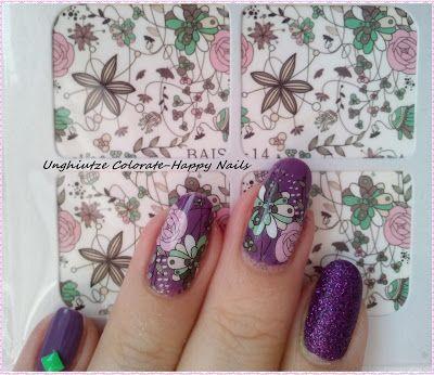 Unghiutze colorate-Happy nails: NOTD-Purple Mix&Match Manicure