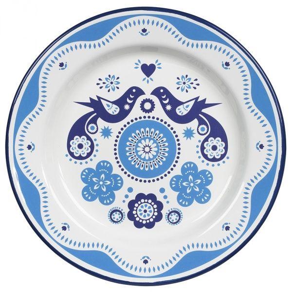 Folklore Blue Enamel Plate | Wild