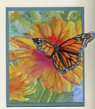 Flower and Butterfly by Katherine  Berlin