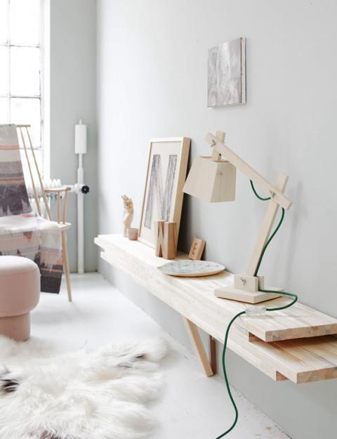 DIY-Wandregal aus hellem Holz | Schöner Wohnen …