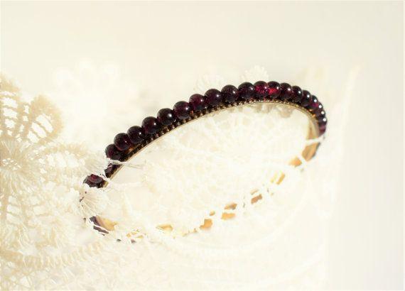 RARE Antique Garnet Bracelet Victorian by PrettyDifferentShop