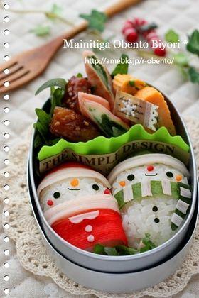俵おむすびサンタさんクリスマスのお弁当♪