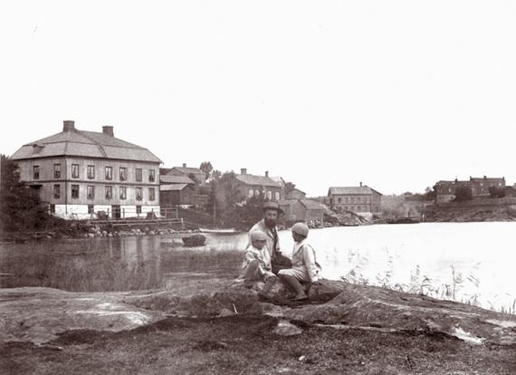 Vanhankaupungin maisemia 1900-luvun alussa. Kuva Kaupunginmuseon kuva-arkisto.