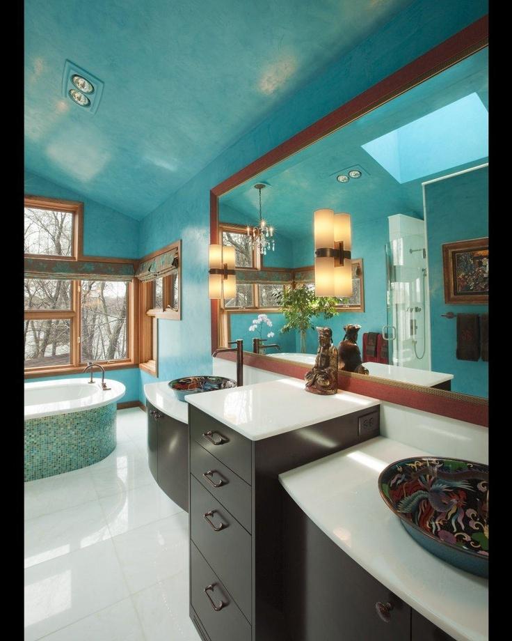 decoracion turquesa cuarto de baño