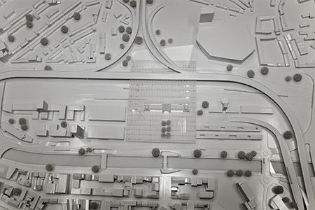 Vue d'ensemble maquette, réalisé par With In pour le projet Eurogare