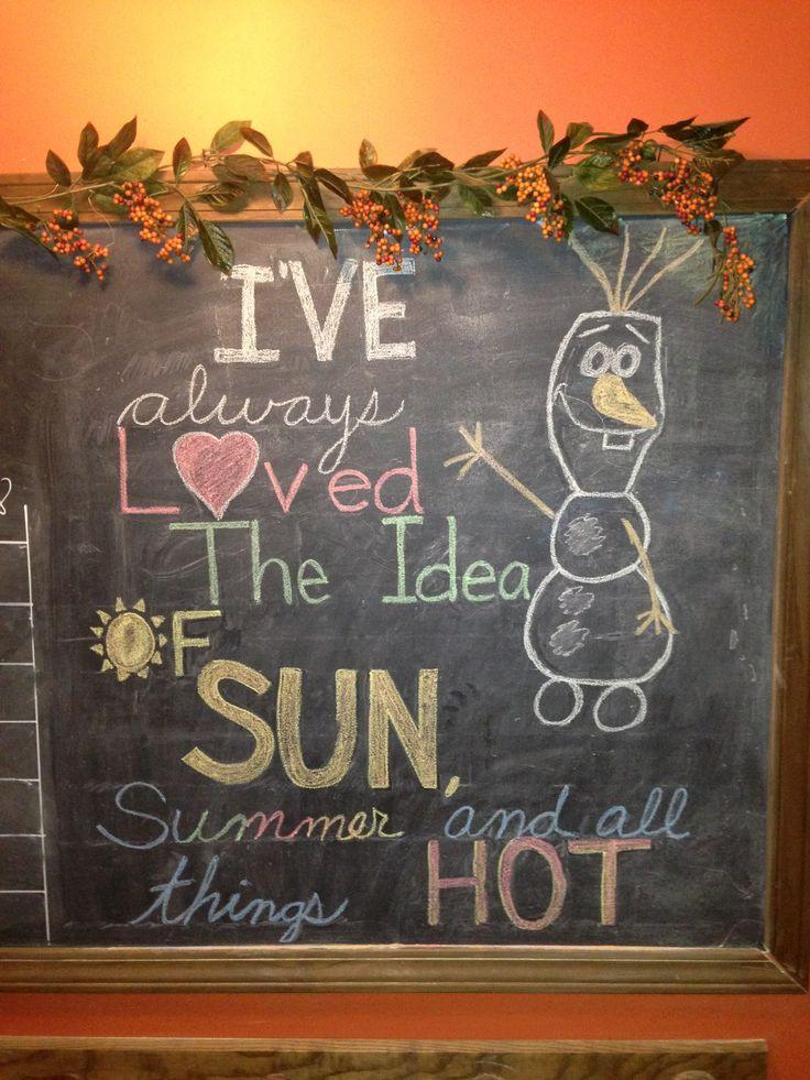 Summer chalkboard art! | Summer chalkboard, Summer ...