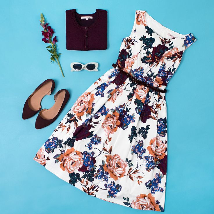 Lydia Bloom Prom Dress | Floral Dress | Flatlay