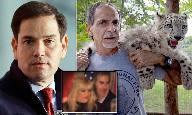 REVEALED: Marco Rubio's brother-in-law was the 'front man' for an international drug-smuggling ring led by leopard-loving 'cocaine cowboy' kingpin, whose mansion was filled with 'big cats and a giraffe'. (13 December 2015)