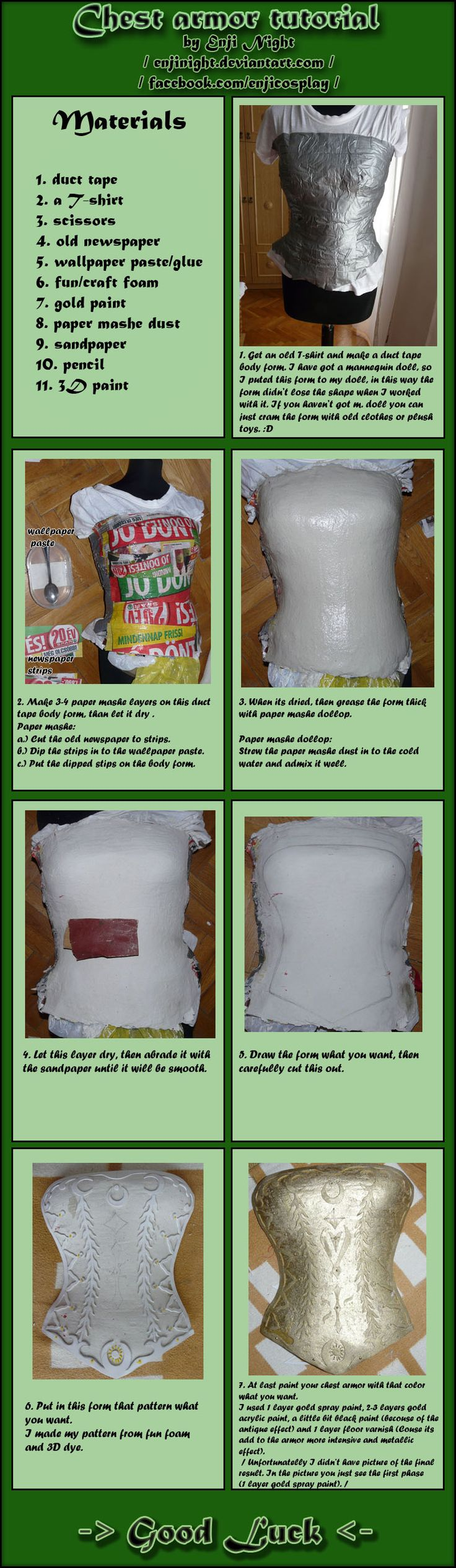 Chest armor tutorial by *EnjiNight This is a really detailed step by