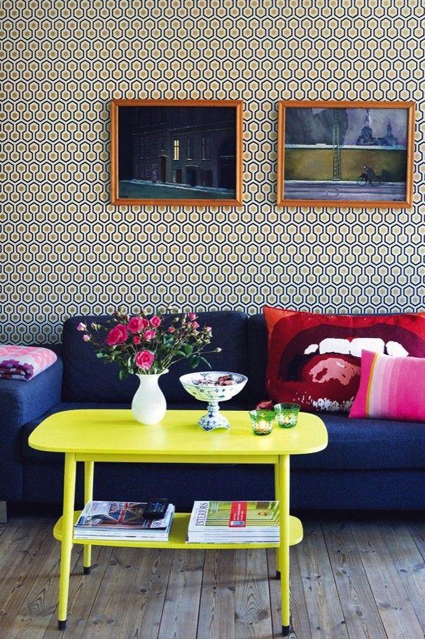 Décor do dia: cores e estampas na sala
