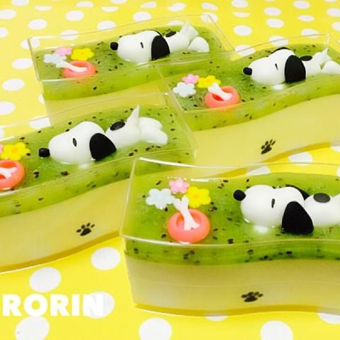 日本人のおやつ♫(^ω^) Japanese Sweets スヌーピーのSweets. Snoopy pudding