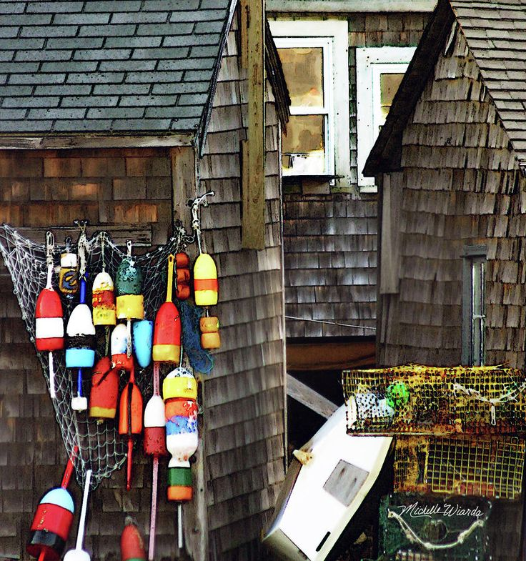 Lobster Buoys In Rockport Massachusetts Photograph  BY Michelle Wiarda