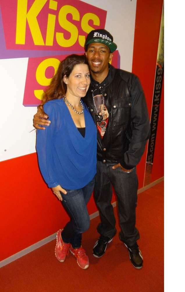 Nick Cannon pre break up with Mariah! Yup he's still got that ink on his back when I talked to him!