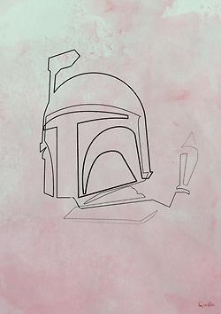 One Line Drawing - Boba Fett