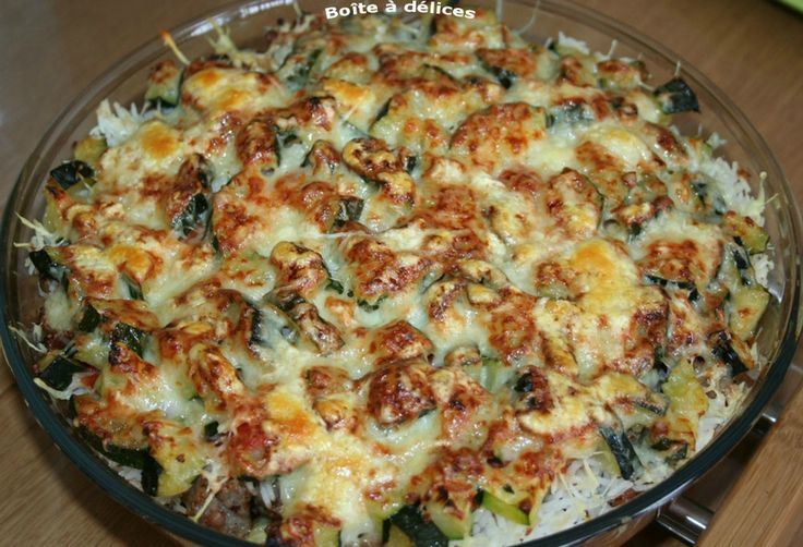 Gratin-courgette-riz-saucis
