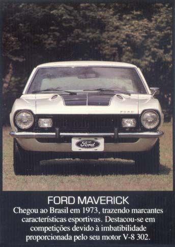 97FORD - Maverick 1973 - GT - Chegou ao Brasil em 1973, trazendo marcantes...S - 29x41-