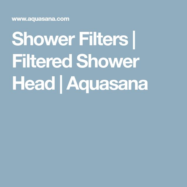 Shower Filters | Filtered Shower Head | Aquasana