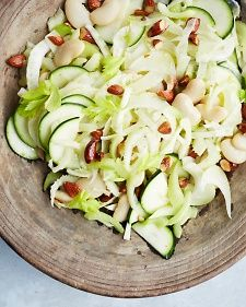 Shaved Fennel, Zucchini, and Celery Salad {skip beans & nuts to make AIP}