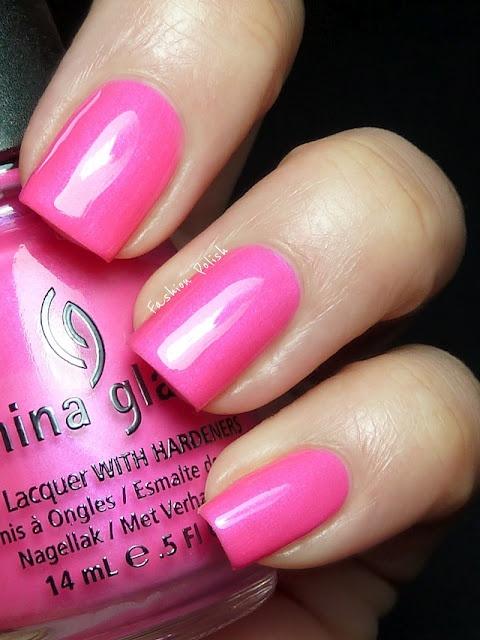 Pretty Pink: Glaze Summer, Pretty In Pink, Nails Colors, Pretty Pink, China Glaze, Nails Polish, Fashion Polish, Neon Pink, Hanging Ten Toe