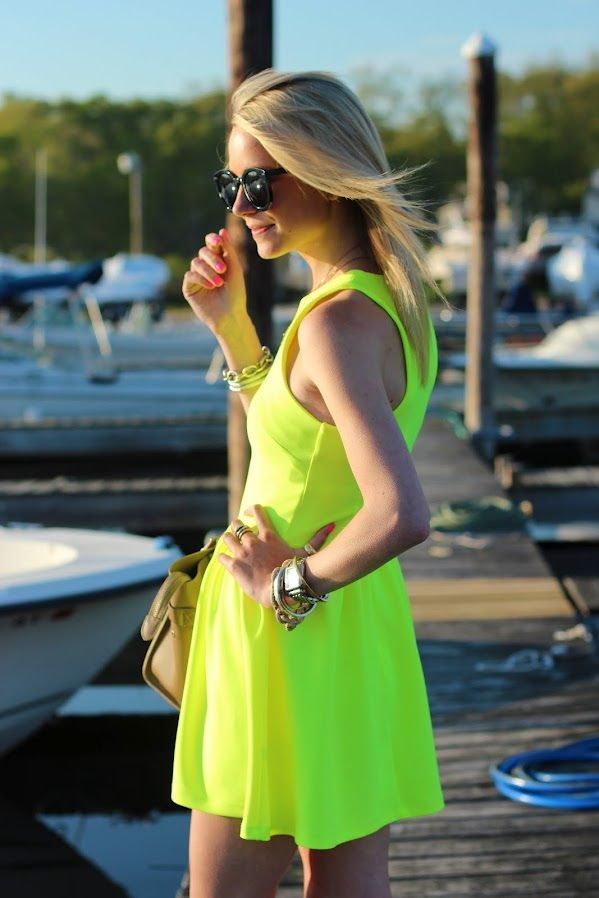 Click through our slideshow to see who's on board with the acid-yellow color craze.